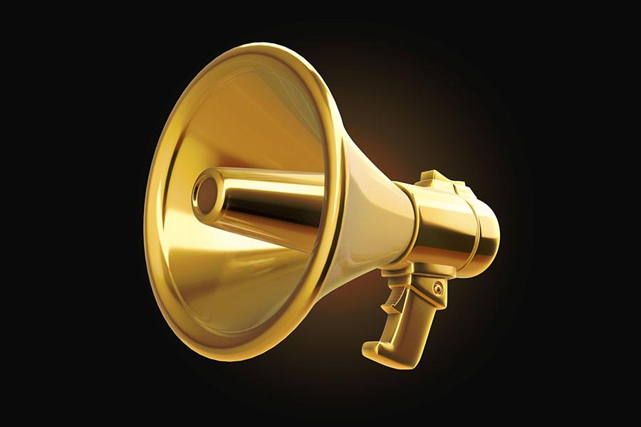 gold-megaphone