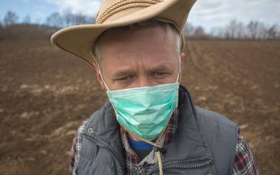 masked farmer